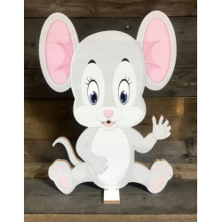 MOUSE - LARGE PINK 54CM