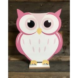 OWL - LARGE PINK 44CM