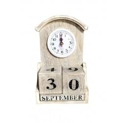 WOODEN CLOCK 14x7x23 CM