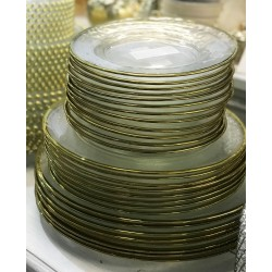 GLASS PLATE 27 cm ZlOTY