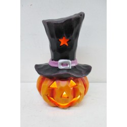 LED CERAMIC PUMPKIN 11*10*16