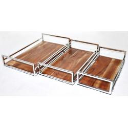 Tace metalowe + drewno 51x46