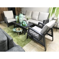 GARDEN SET SICILY SOFA, 2 CHAIRS AND TABLE
