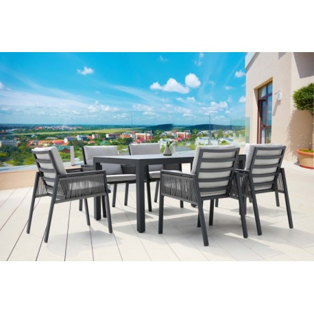 GARDEN SET SICILY TABLE + 6 CHAIRS