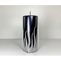 WALEC 70X150 FLAME CZARNY + SREBRO