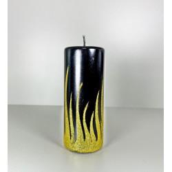 WALEC 70X150 FLAME CZARNY + ZLOTO