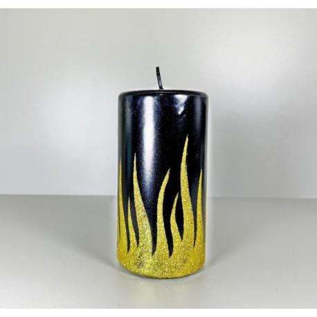 WALEC 80X150 FLAME CZARNY + ZLOTO