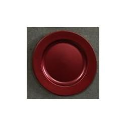 Talerz z tworzywa 33 cm czerwony