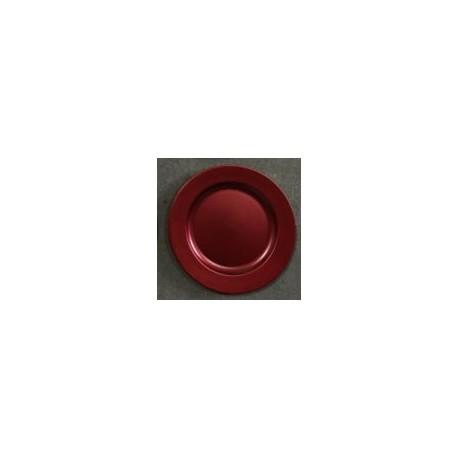 Talerz z tworzywa 28 cm czerwony