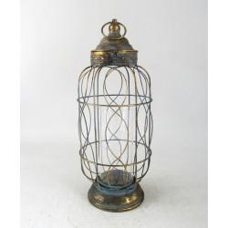 Lampion Metalowy 19x19x45
