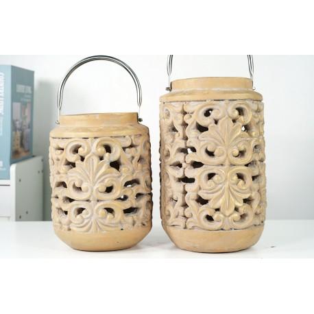 BZ. Lampion z Ceramiki 19x19x26