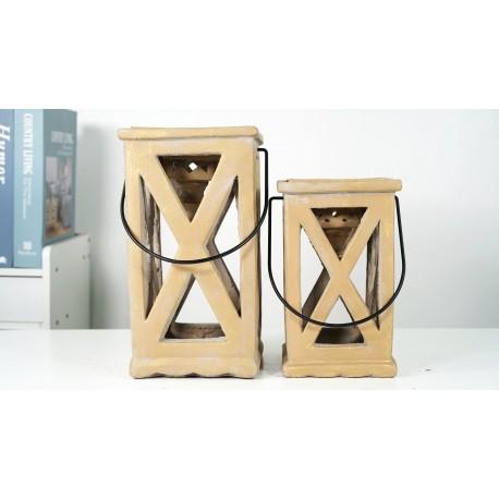 BZ. Lampion z Ceramiki 17x17x42