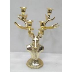 Renifer Metalowy h40 gold